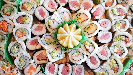 sushi platter from Sushiana restaurant in Highland Park, New Jersey