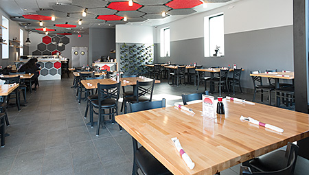 Sushiana Restaurant in Highland Park, New Jersey has a new spacious interior.